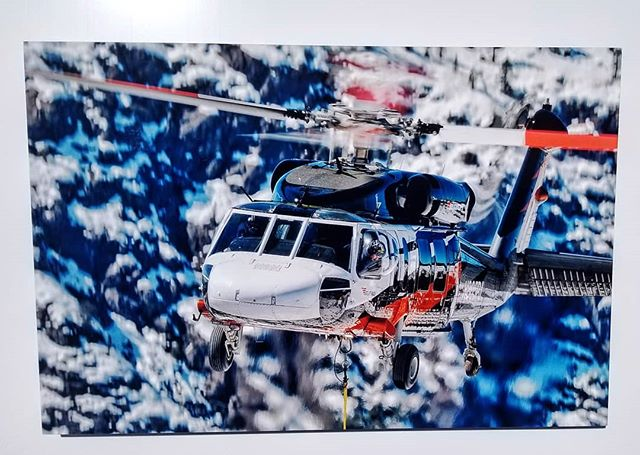 "When @buttercup_commando says ""I have a photo for you to print"" you know it's going to be a new level of badassery 😉 . He lives a dream of a life. Flying in the sky daily, over some of the most gorgeous landscapes, and gets to take some of the coolest photos of helicopters. 🚁 (check out his IG!) . Years ago this company brought us together and we quickly found out we live only a couple blocks away from eachother. I appreciate the connections @onthewallmetalprints has brought, including introducing me to my neighbors. 🏘 . Thank you @buttercup_commando for always being you! Hope all is well in the sky & looking forward to the next time we connect and I get the pleasure of seeing your next incredible shot! 📸😁 #helicopter #flyaway #beautifulsky #badassery #coolestjobever"
