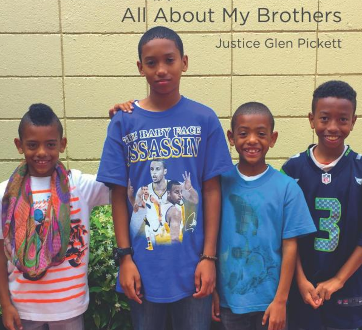 All About My Brothers   Justice Glen Pickett introduces the beginning reader to his brothers. Read along to learn where these four boys like to travel.   Buy this book.