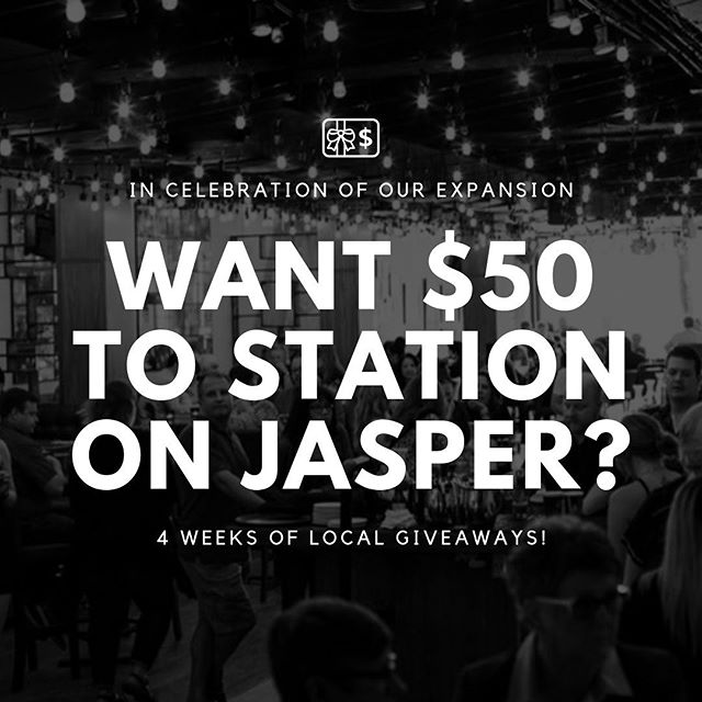 On the ✌️ week of giveaways, Homestead gave to me… a $50 gift card to @stationonjasper! 🎤 We're having an Expansion Party on October 8 and we're heading to Station on Jasper afterwards to keep the party going! They're even crafting a Homestead signature cocktail for us... 🍹🍹 Follow these steps & you'll be entered to win: _ ▪️FOLLOW both @homesteadyeg and @stationonjasper ▪️TAG a friend you'd like to bring to our Expansion Party - the more you tag, the better the chance of winning! ▪️REGISTER for the Expansion Party (if you haven't already!) and it will count as an EXTRA 10 ENTRIES! Visit the link in our bio 🔗 to get your VIP invite - live music, food, appetizers and more... you won't want to miss this!  Good luck everyone! 🙌  Disclaimer: Winner will be chosen on Friday, September 20 at 11 AM. This is no way sponsored, endorsed or administered by (or associated with) Instagram or Facebook.