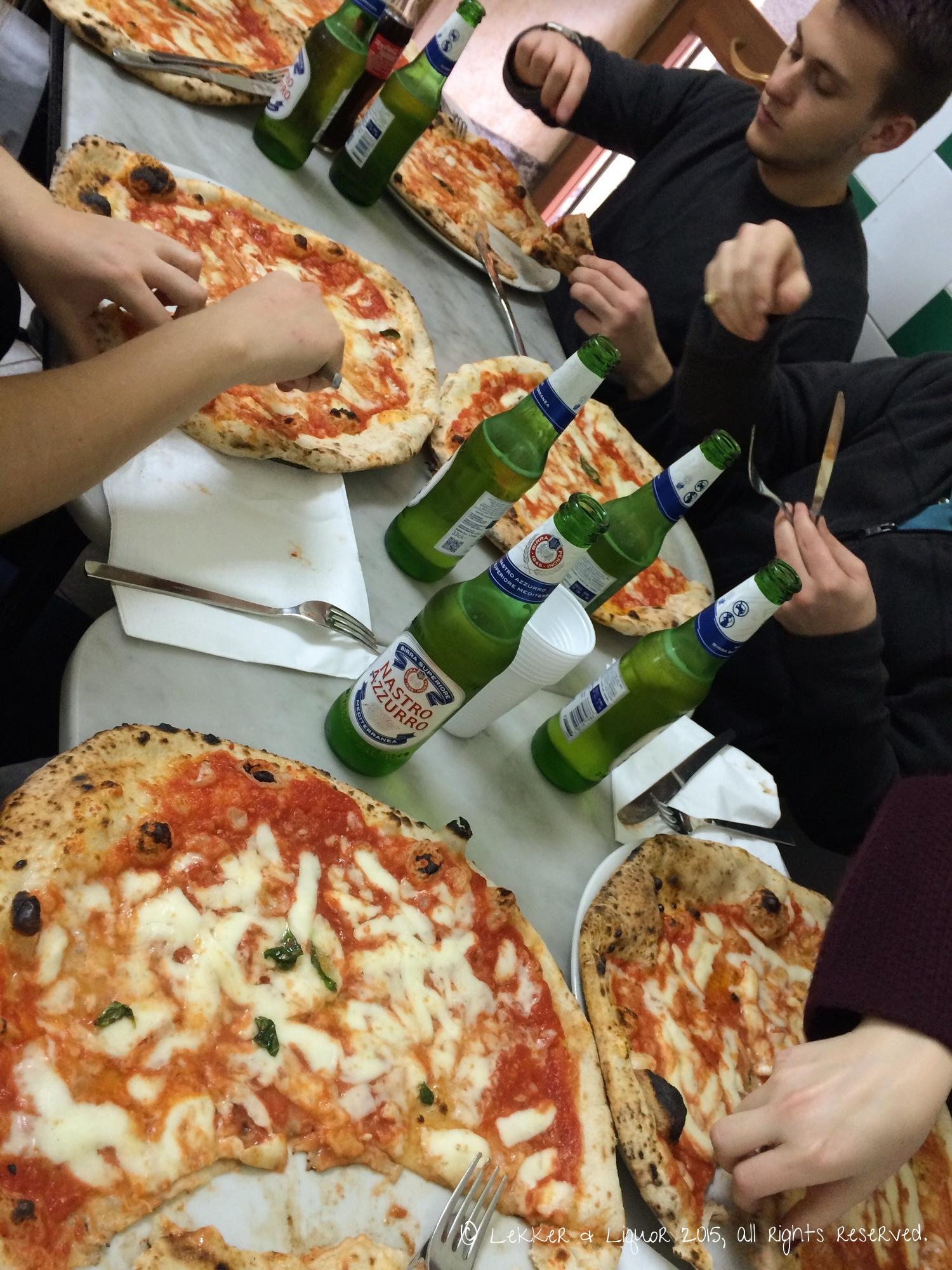 Pizza at Da Michele in Naples, Italy