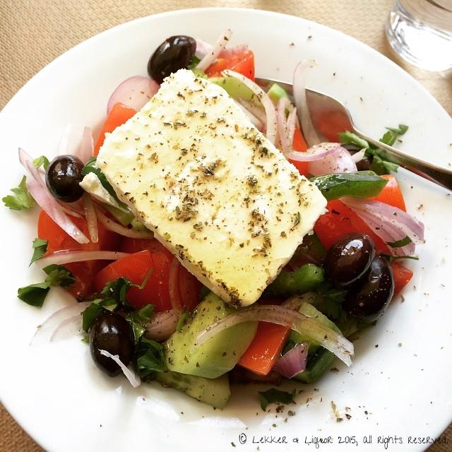 Greek Salad in Greece. Duh.
