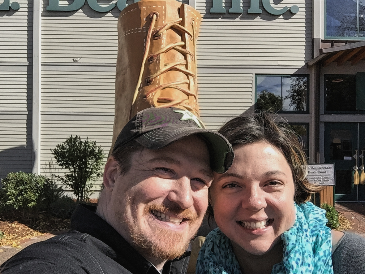The giant L.L. Bean boot - and we couldn't even figure out how to get the whole thing in the photo.