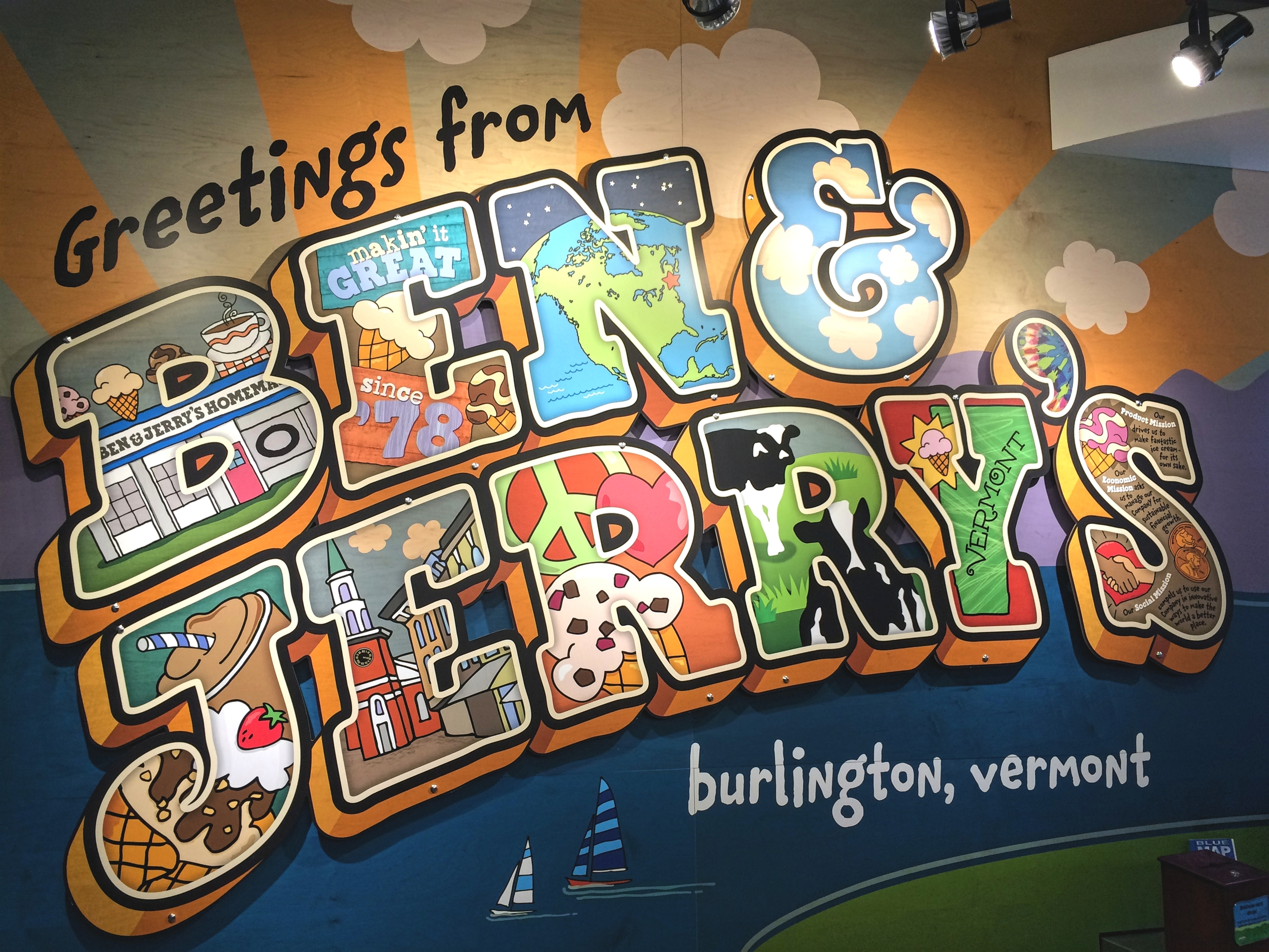 We *might* have had some more Ben & Jerry's, this time from the downtown Burlington scoop shop.