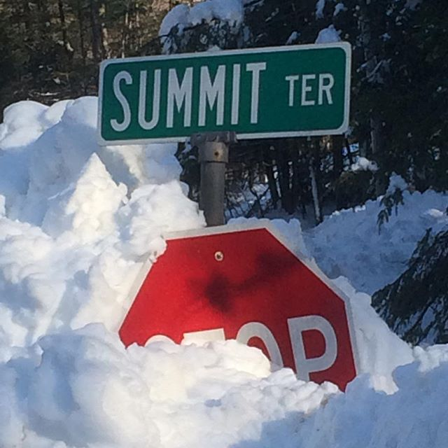 Yup. I live on Summit Terrace. Isn't winter in Maine awesome.