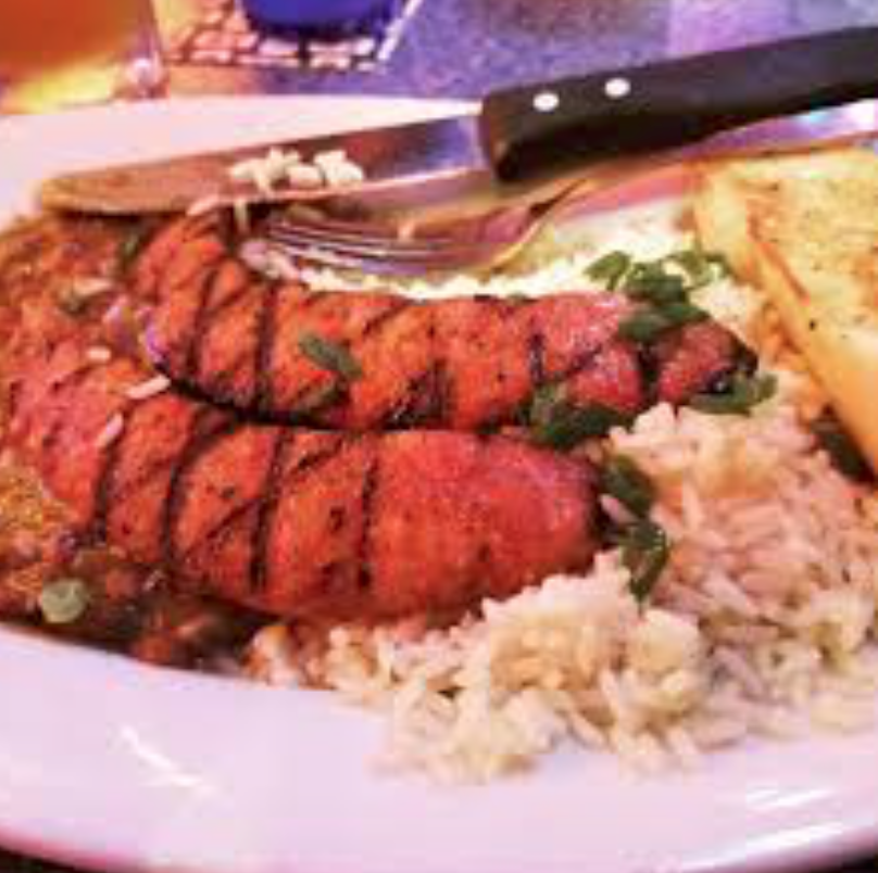 razzoo's cajun food texas andouille sausage red beans and rice