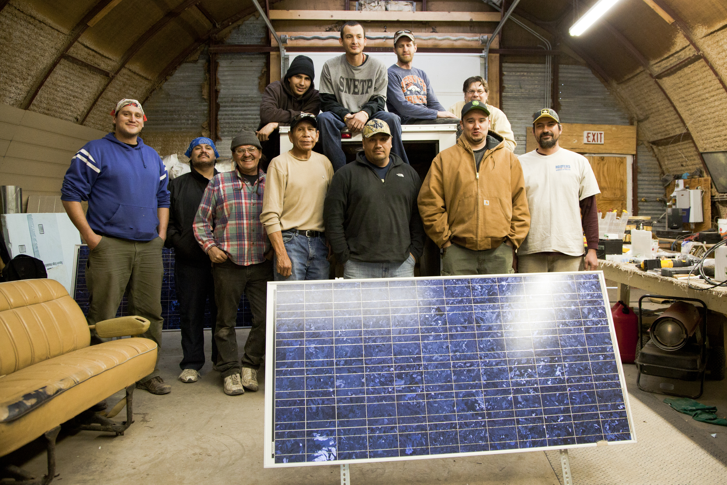 """Renewable Energy Warriors"" graduate from a Solar PV training hosted at the Red Cloud Renewable Energy Center."