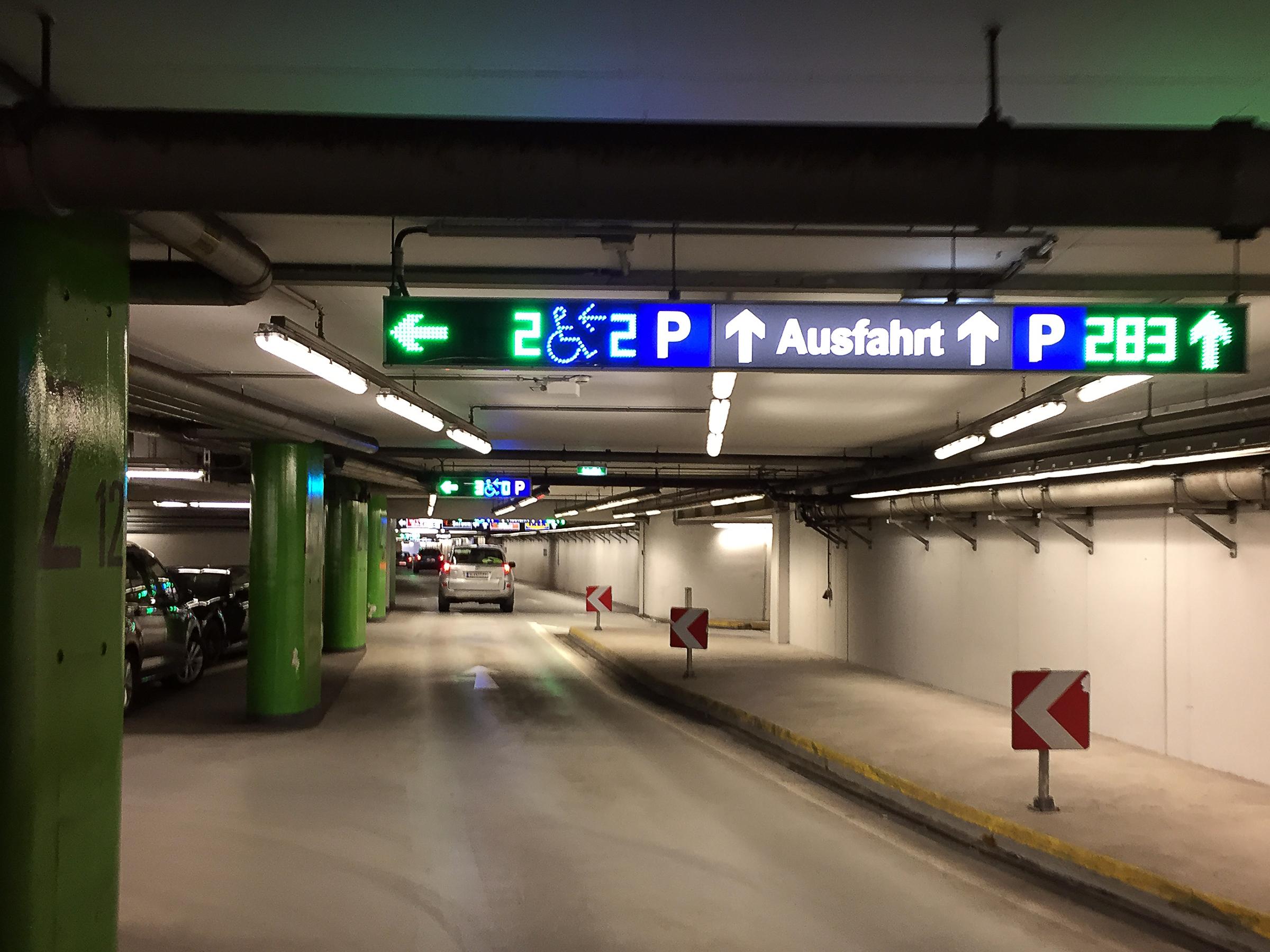 Ausfahrt means exit.