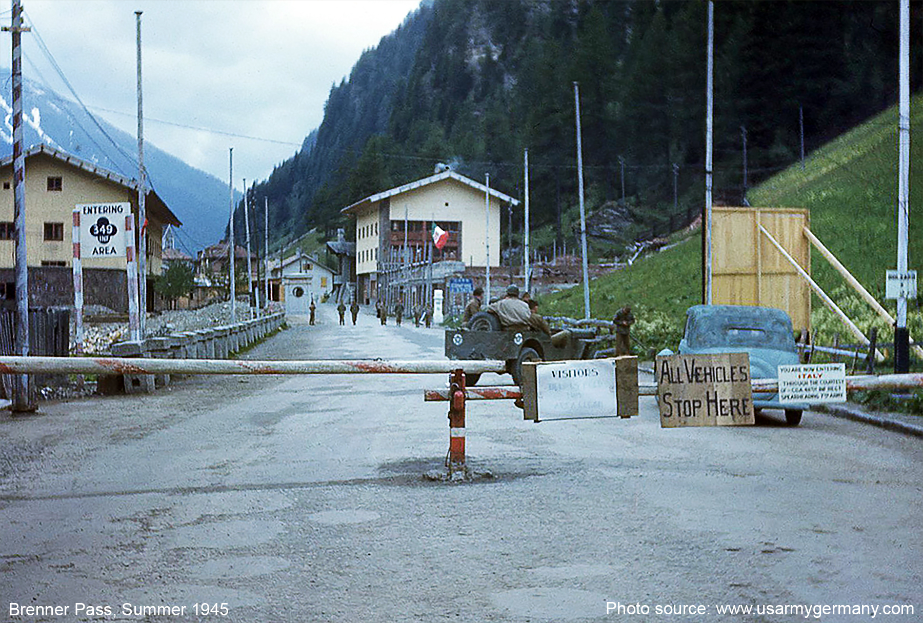 The Brenner Pass c. 1945 (Source:  www.usarmygermany.com )