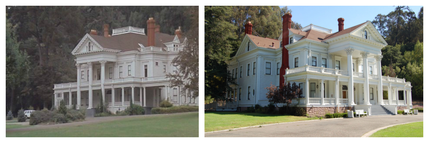 "6)  Phantasm (1979) : You might actually recognize this property from more than just ""Phantasm;"" it's been featured in the films ""Burnt Offerings,"" ""A View to a Kill,"" ""So I Married an Axe Murderer"" and Clint Eastwood's ""True Crime."" Known as the  Dunsmuir-Hellman Historic Estate , their website describes it as a ""37-room Neoclassical Revival Mansion set upon 50 acres of beautifully landscaped grounds."" Built in 1899, the home had been bought and sold several times before ending up in the hands of the City of Oakland, California. The U.S. Department of the Interior has officially labeled the Dunsmuir-Hellman Mansion a National Historic Site and the City of Oakland has named both the mansion and Carriage House Oakland Historic Landmarks."