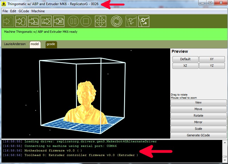 An example of CAM software in ReplicatorG (image from MakerBot)