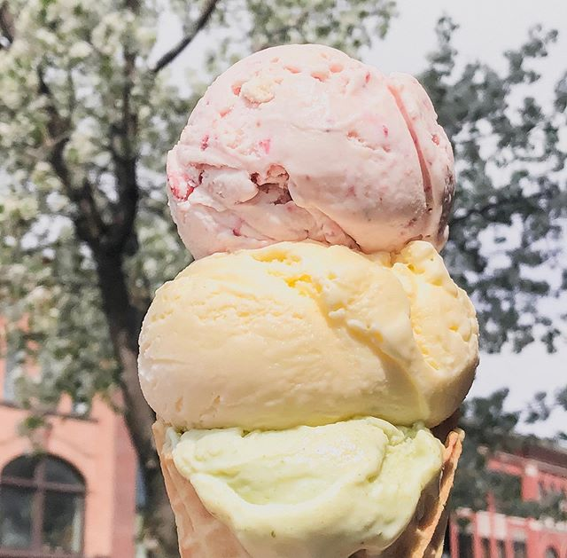 Pastel perfection 🌸 stacked — Strawberry Shortcake, Lemongrass Ginger, Tarragon on tap now in #Hudson and #CambMA
