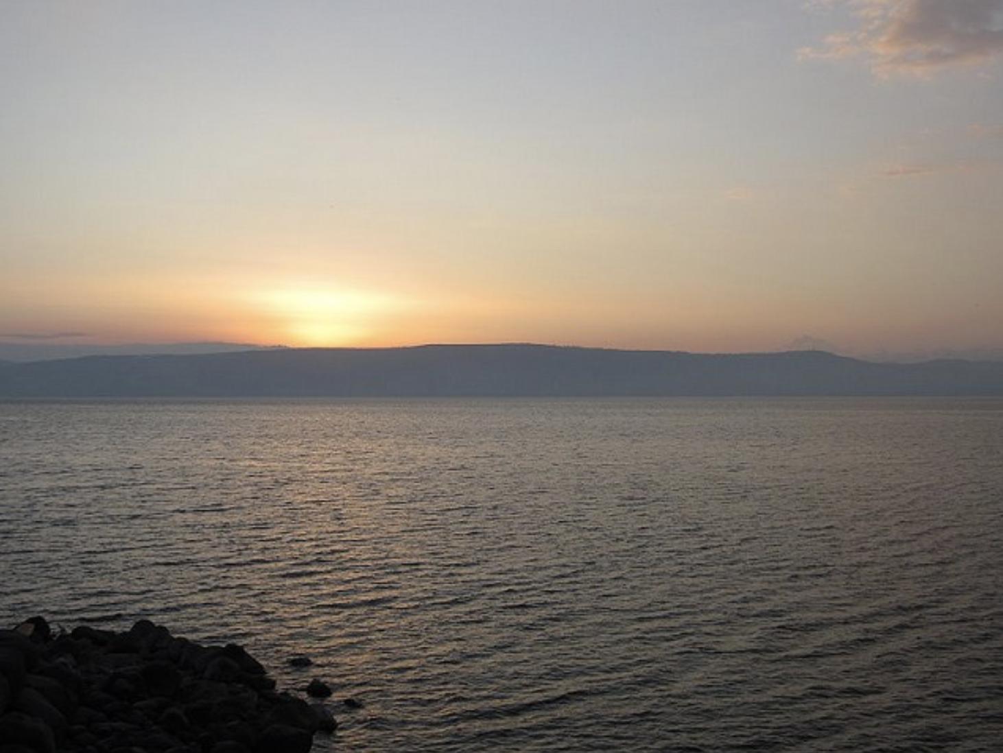 Sea of Galilee at dusk