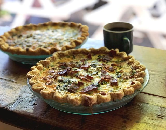 Is it brunch? Is it lunch? Does it even matter? Quiche is a delicious and filling meal whatever the time of day. Available by the slice or whole - we've always got a whole bunch of seasonal options available at the shop. Come get your quiche fix! - - - - - #laurettajeans #eater #eaterpdx #pdxnow #happeninginpdx #pie #piebakery #pieshop #pieforbreakfast #piegoals #springtime #pdxbrunch