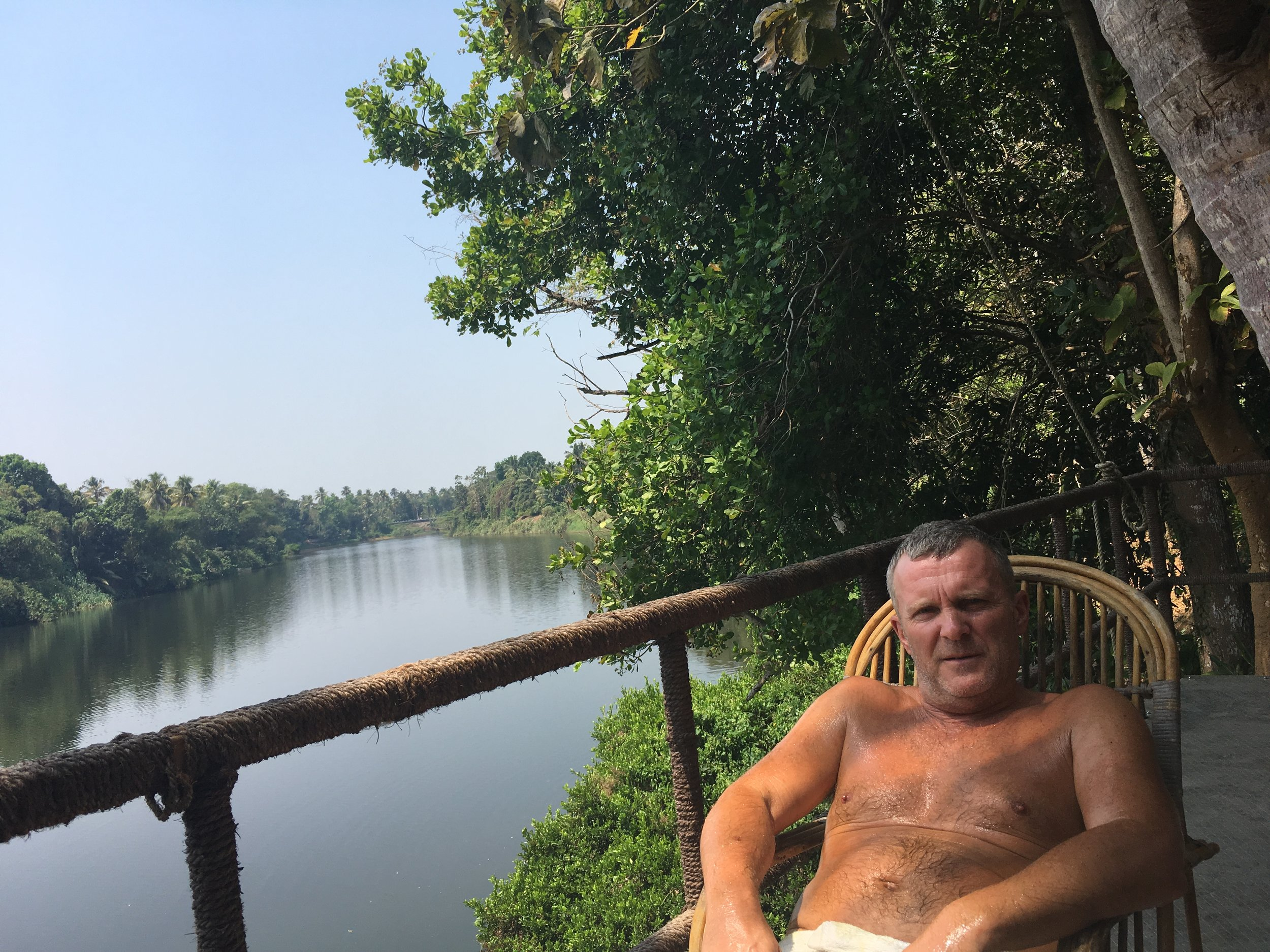 - truly enjoying my INTERNTAL TOURISM life EXPERIENCE on the river terrace (made as a boat) in GREEN GRAM WELLNESS VILLAGE.