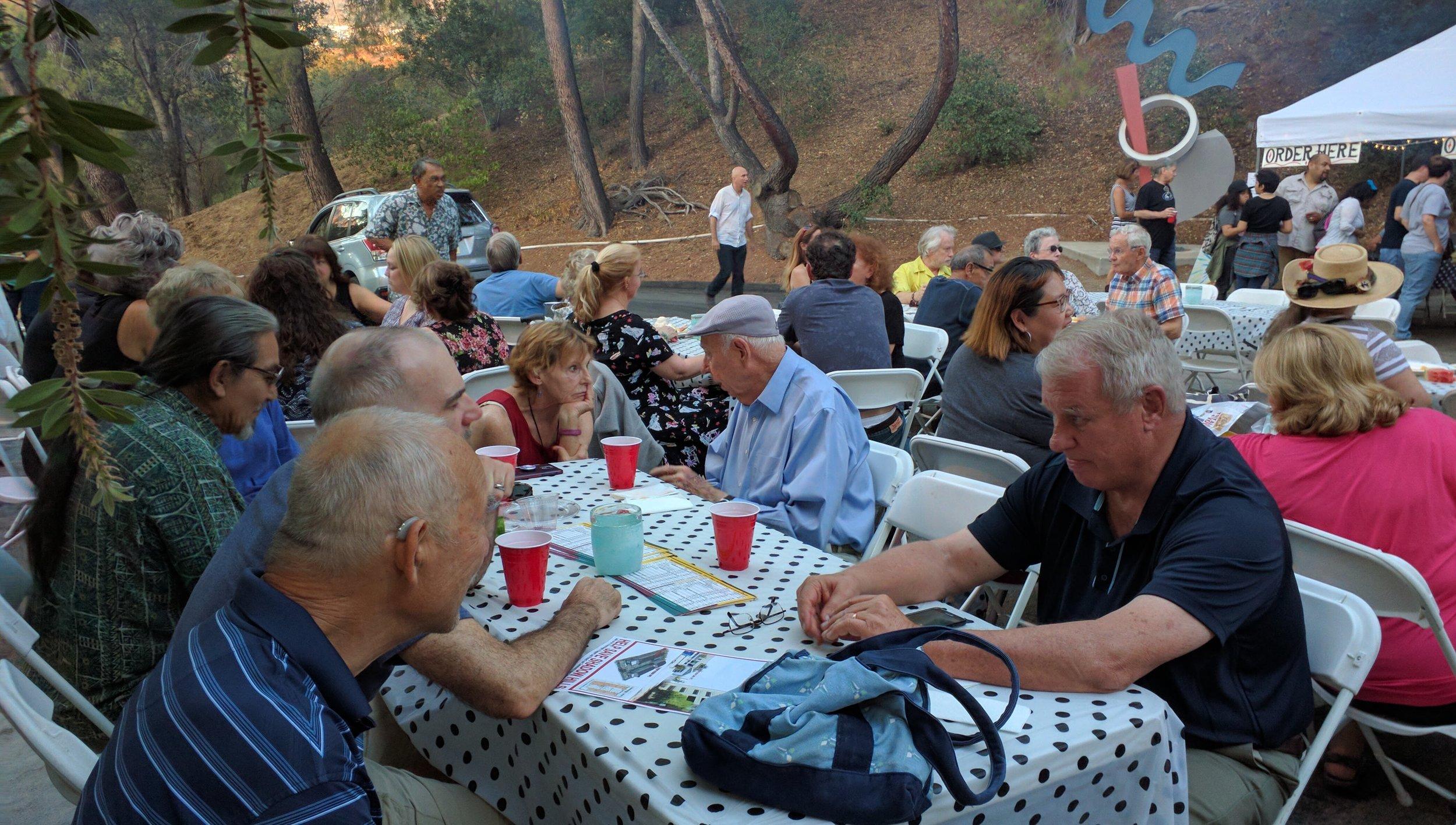 Gerardo, Art Drucker, Marsh Drucker, Bill Eick at tables.jpg