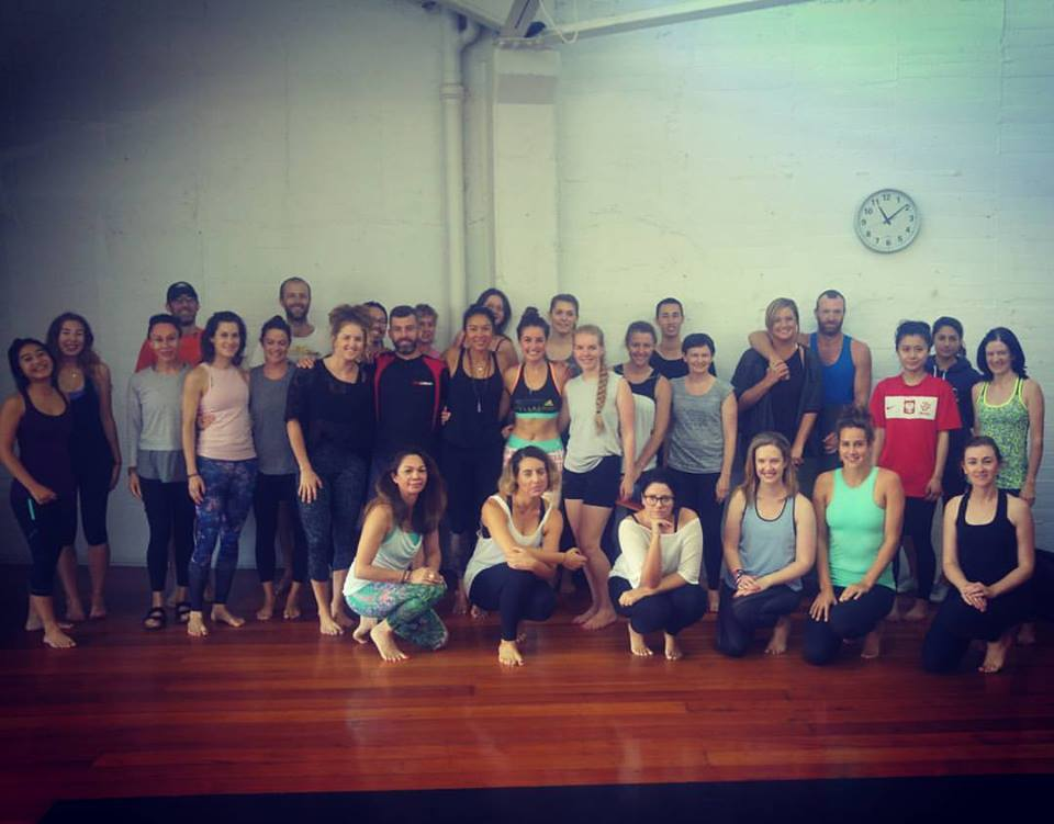 Me and the beautiful souls who turned up, tok part in class and donated to the Mental Health Foundation of New Zealand