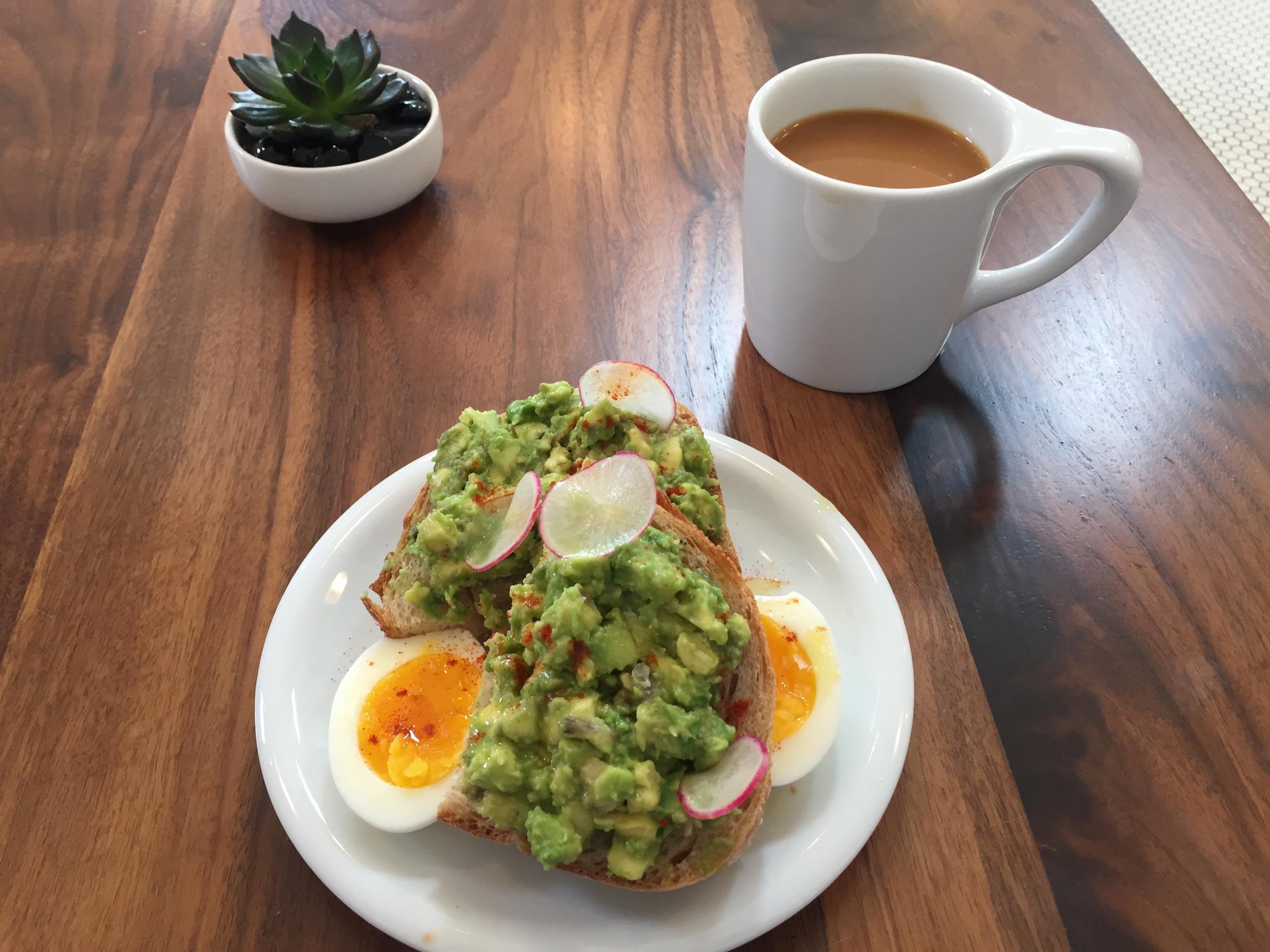 The Avocado and Egg Tartine at Alpine Modern Cafe