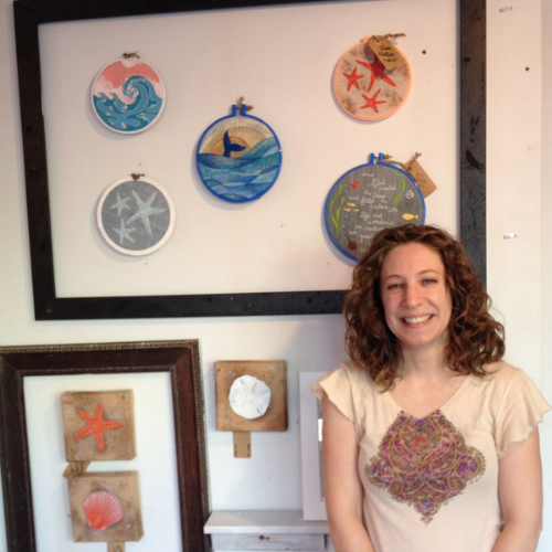 I had the opportunity to feature 10 pieces in the Wildwood, NJ artBOX on Morey's Piers this summer.