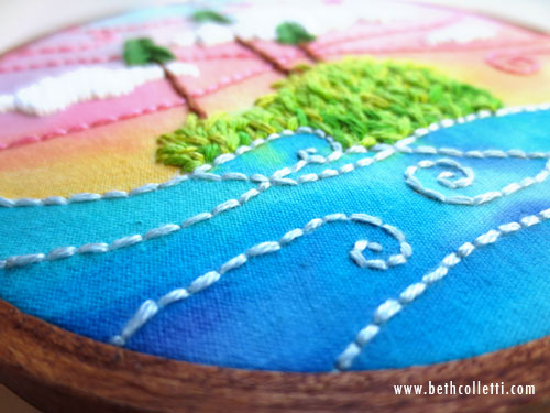 Detail of Lake Placid Vacation Keepsake Custom Artwork