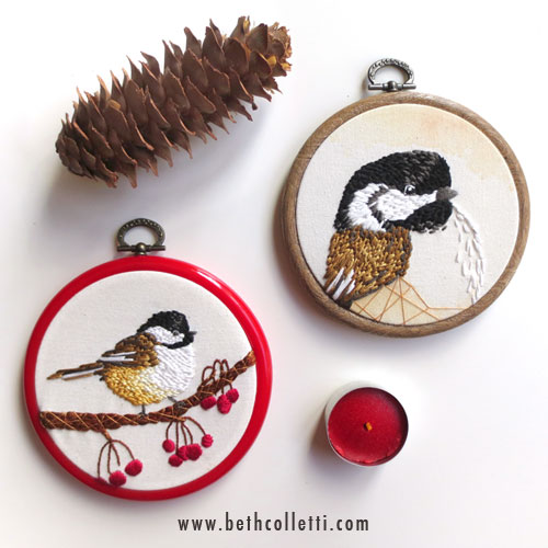 These two chickadees will be featured at the   Gallery U Boutique   in Westfield, NJ for purchase during the month of November.