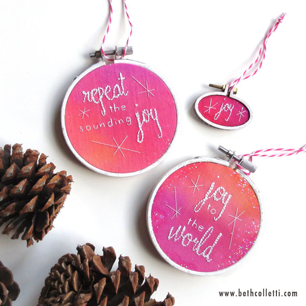 Pink Boho Chic Christmas Ornaments by Beth Colletti