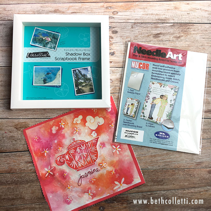 Supplies for framing you embroidery art.
