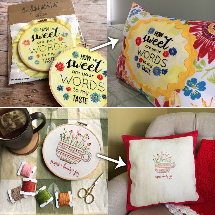 I love seeing how people get creative with my embroidery patterns and kits!