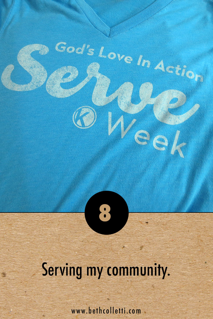 My official t-shirt for Serve Week!