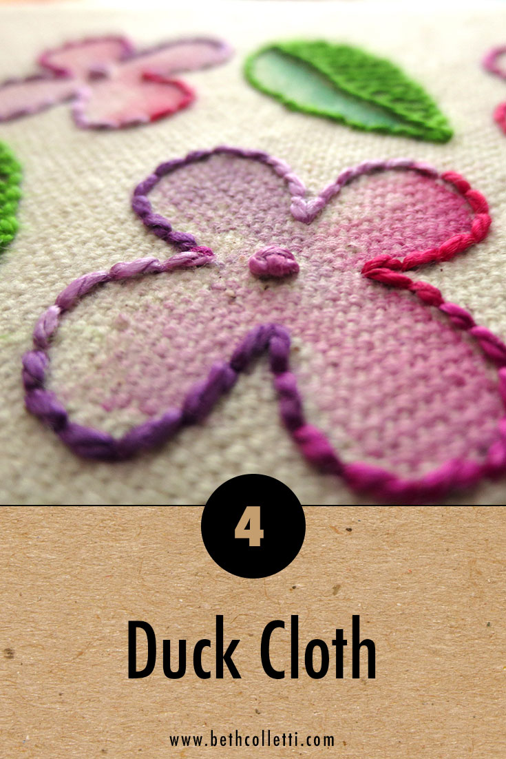 6 Great Fabrics Plus Other Materials To Use For Hand Embroidery Projects Beth Colletti Art Design