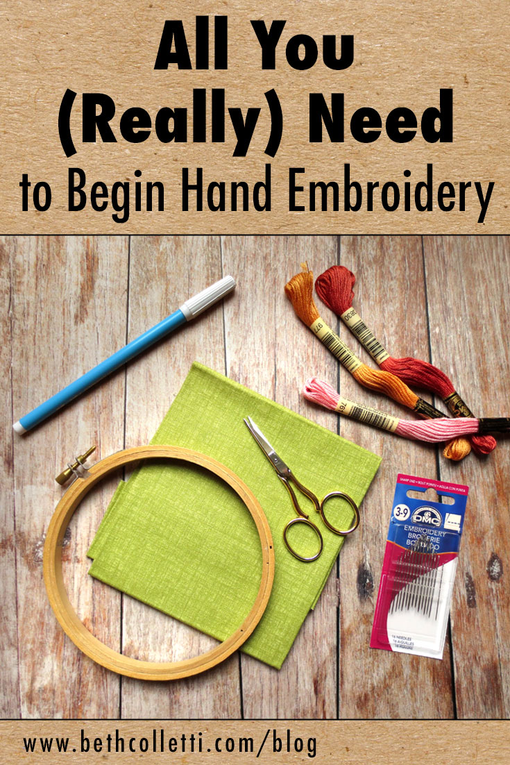 All You (Really) Need to Begin Hand Embroidery