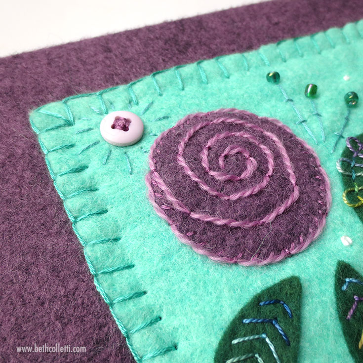 How to Display Your Felt Appliqué Sampler