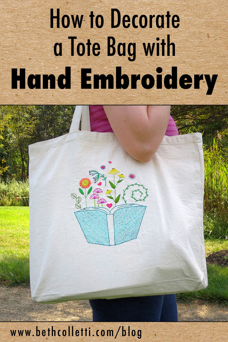 How to Decorate a Tote Bag with Hand Embroidery