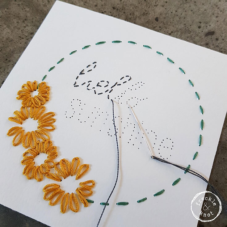 How to Hand Embroider Paper