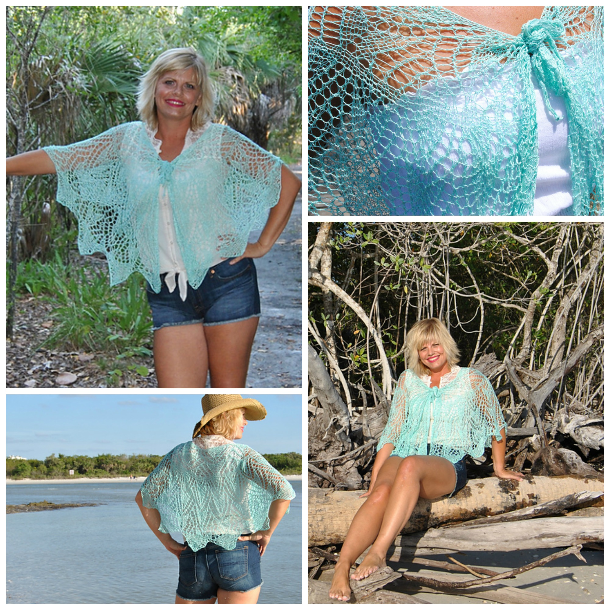 Click here for Be So Fine Yarn Little Hickory Knit Lace Cape FREE Pattern