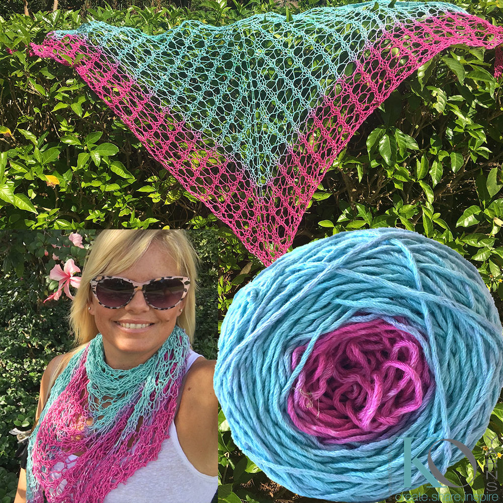 Click here for Be So Bold Ombre Gradient Knit Lace Shawl FREE Pattern