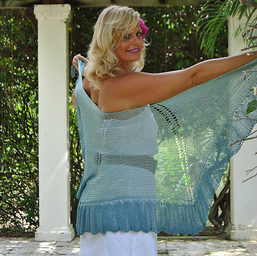 Click here for Be So Sporty Yarn Hibiscus Princess Knit Shawl FREE Pattern