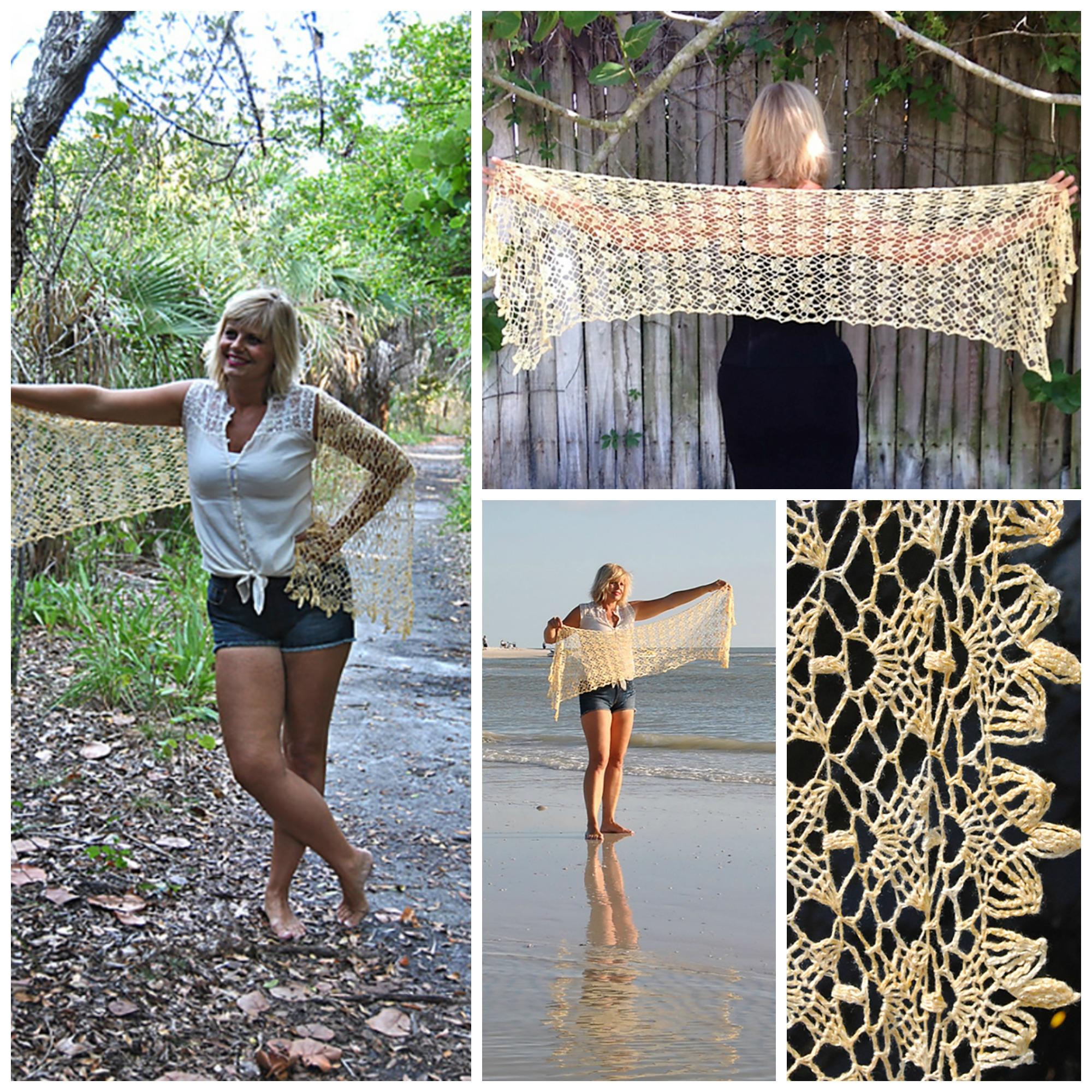 Click here for Sunny Isles Crochet Shawl Yarn Kit., $30