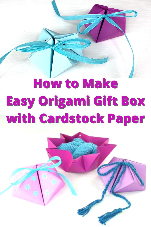 Origami Hinged Gift Box Tutorial - DIY - Paper Kawaii - YouTube | 1500x1000