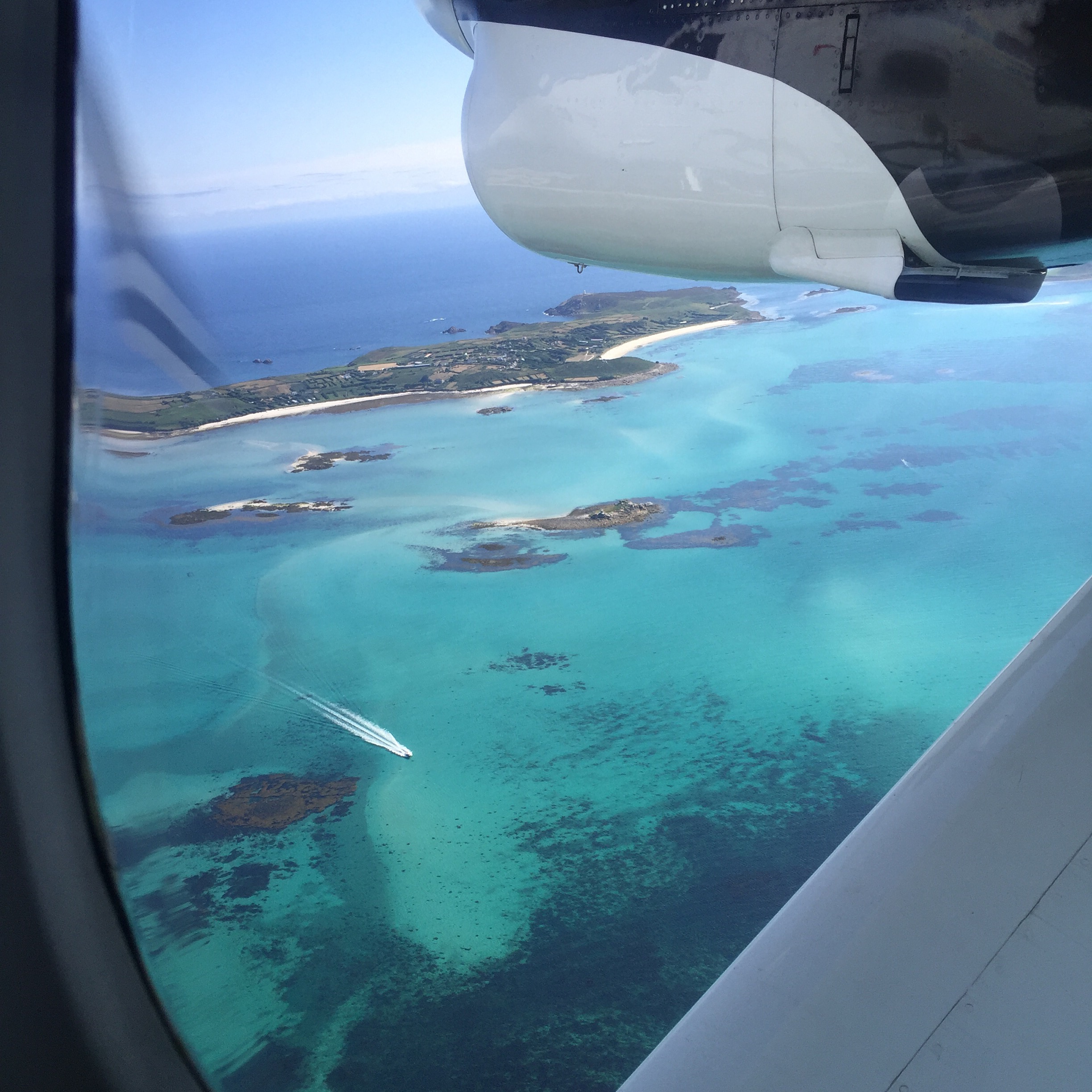 View from the Plane over the Scillys