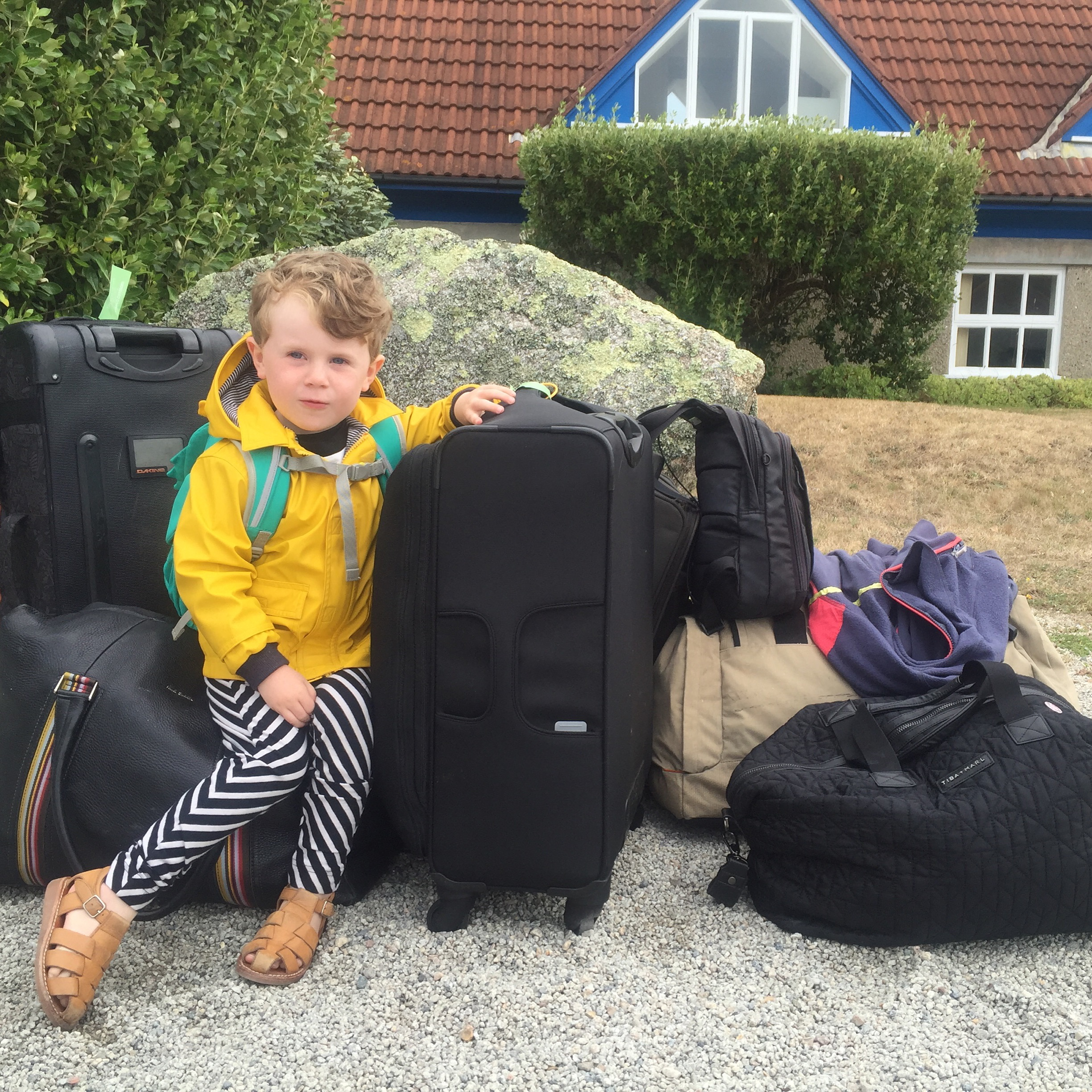 Travelling light as usual