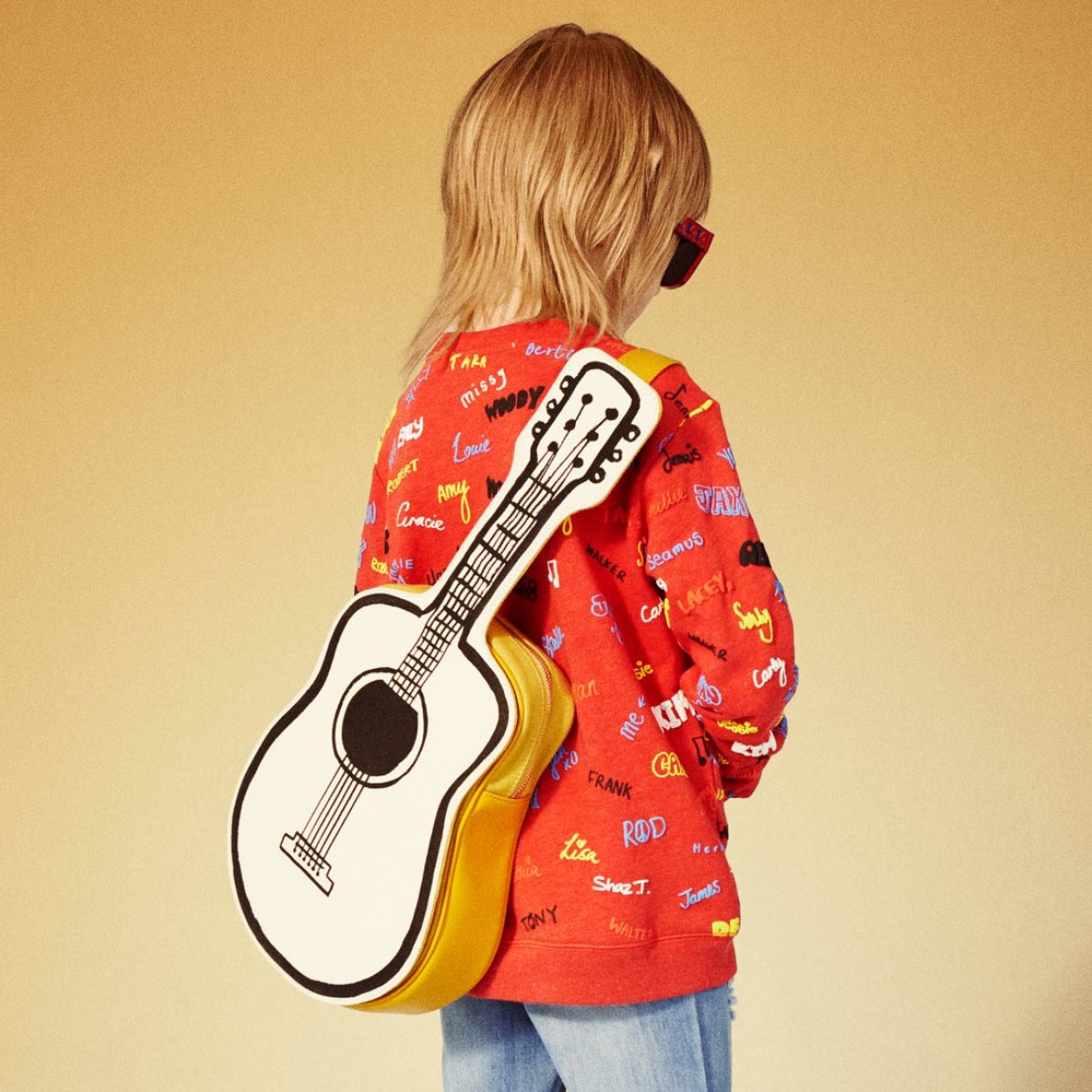 Apparently there are air guitar championships at Camp Bestival this year. Photo above: Stella McCartney Guitar Bag