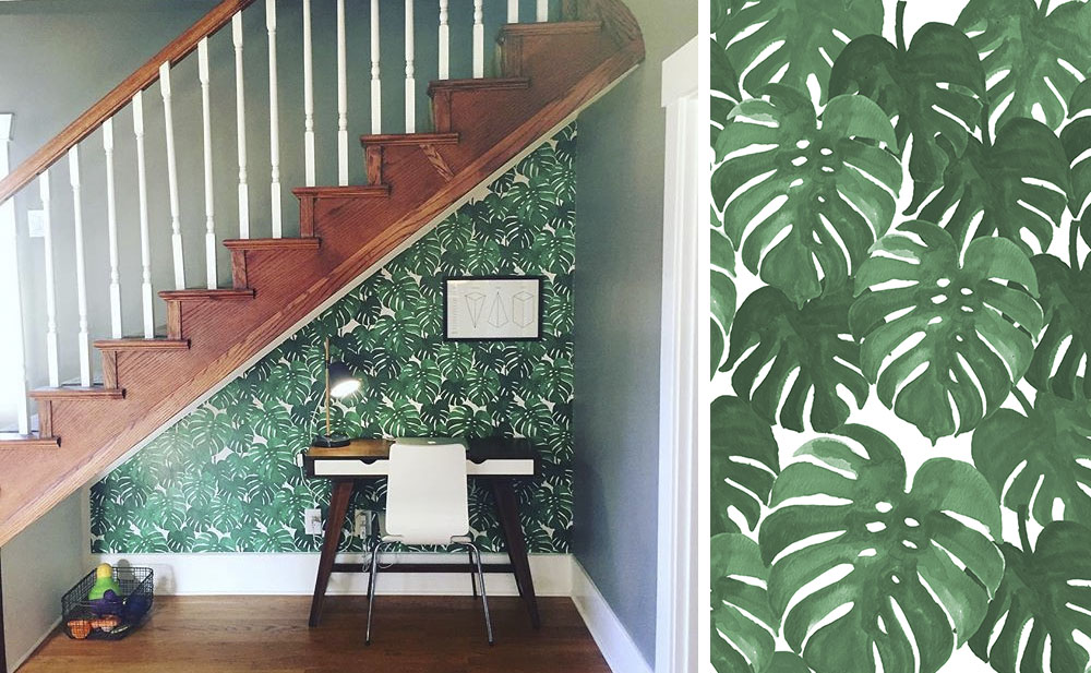 Monsterra Plant print by  Charlotte Winter . Monstera wallpaper: @ausmus_ausmus