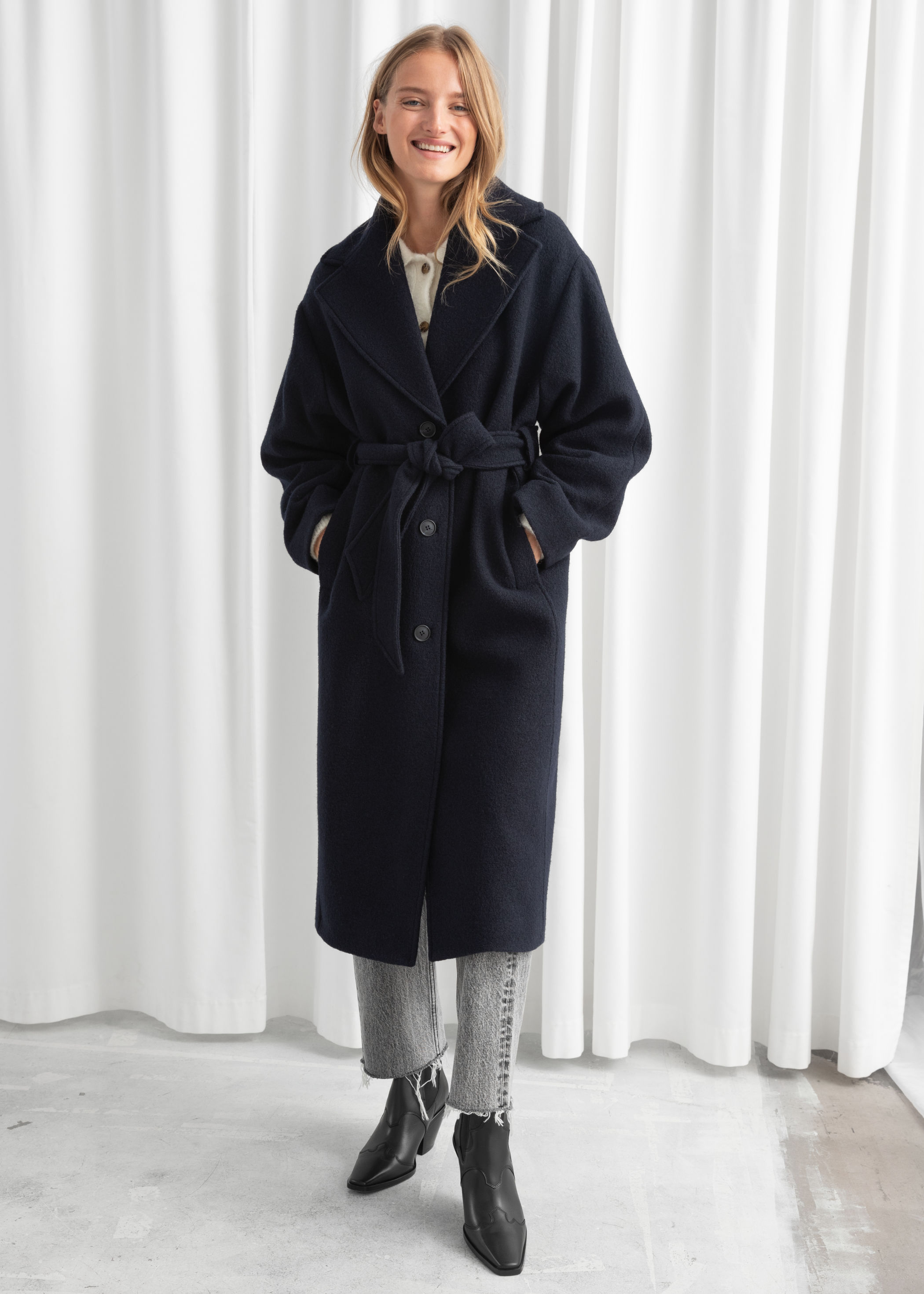 Wool Wrap Coat   by & Other Stories £175