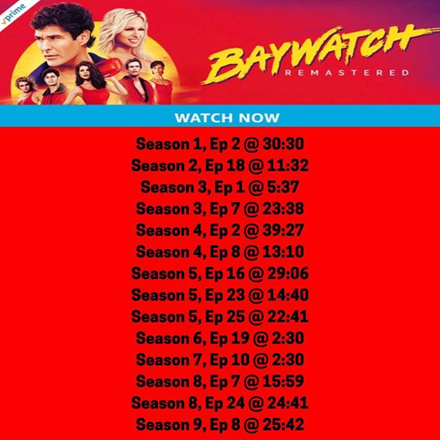 Here's a list of my songs featured on Baywatch, streaming now on Prime Video 🔥❤️🔥