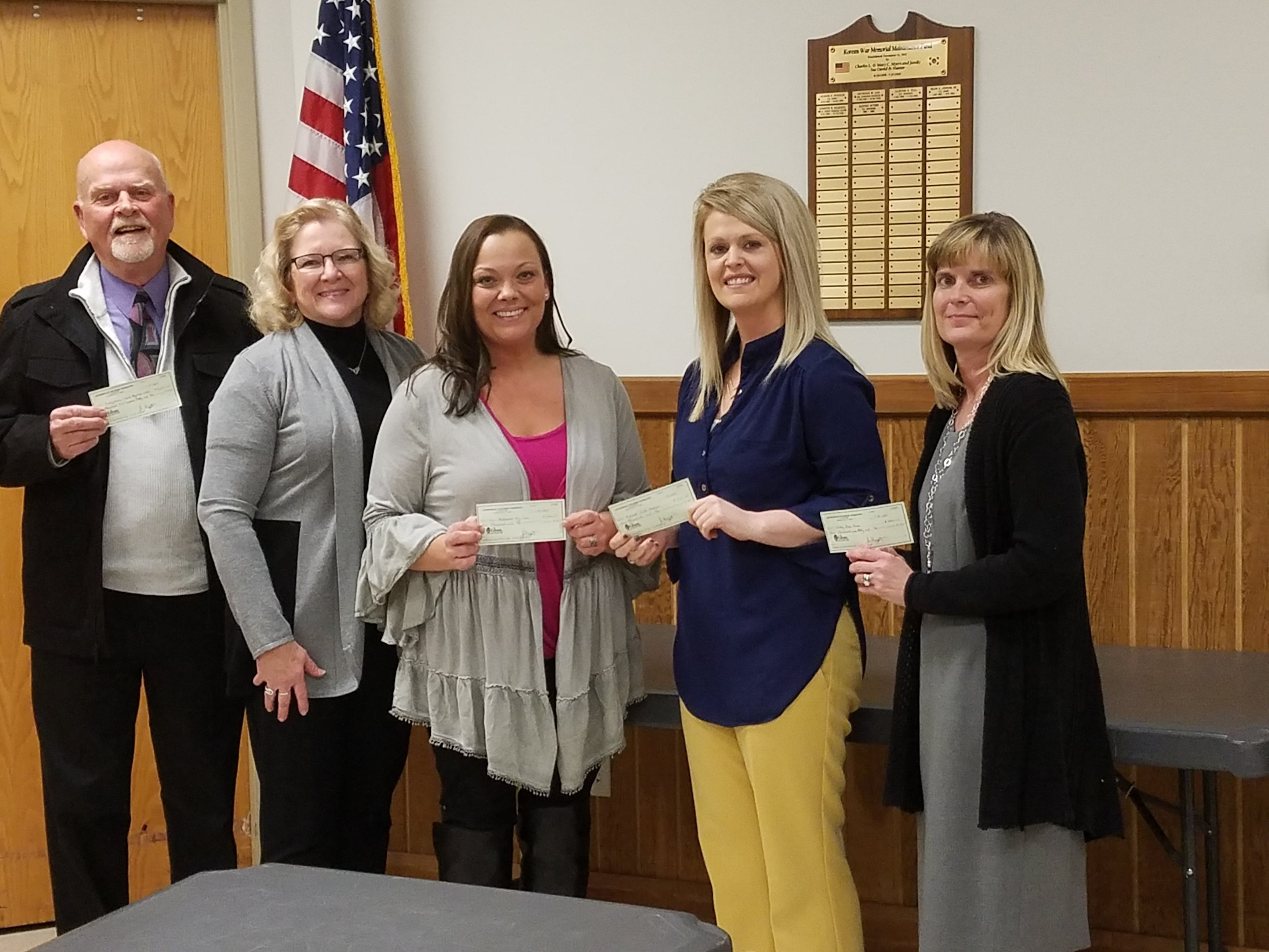left to right: Odell Fellhauer - Presbyterian Church Day Care, Carolyn Bonjean - Board Member Jacksonville Children's Foundation, Ashley Lipscomb, Our Redeemer Day Care, Ann Hungerford, Midwest Youth Services, and Annette Huddleston, Hobby Horse House.