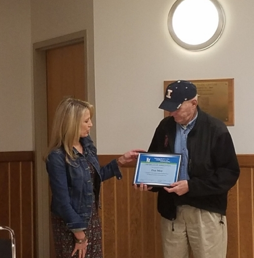 Retiring Board Member Dan Moy was recognized for his multiple years of Service with JCF