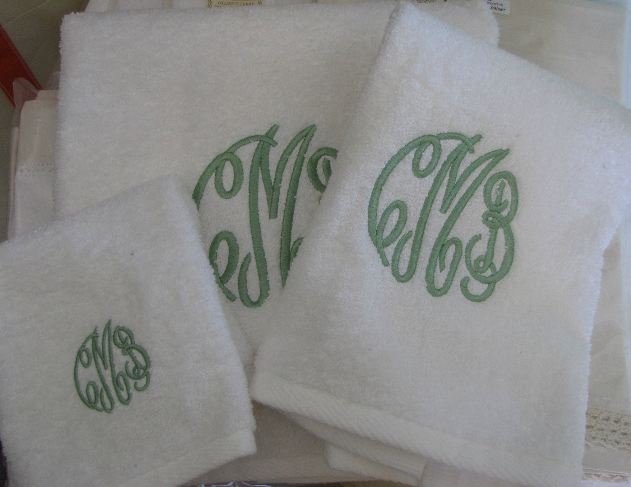 Set of Monogrammed Towels.JPG