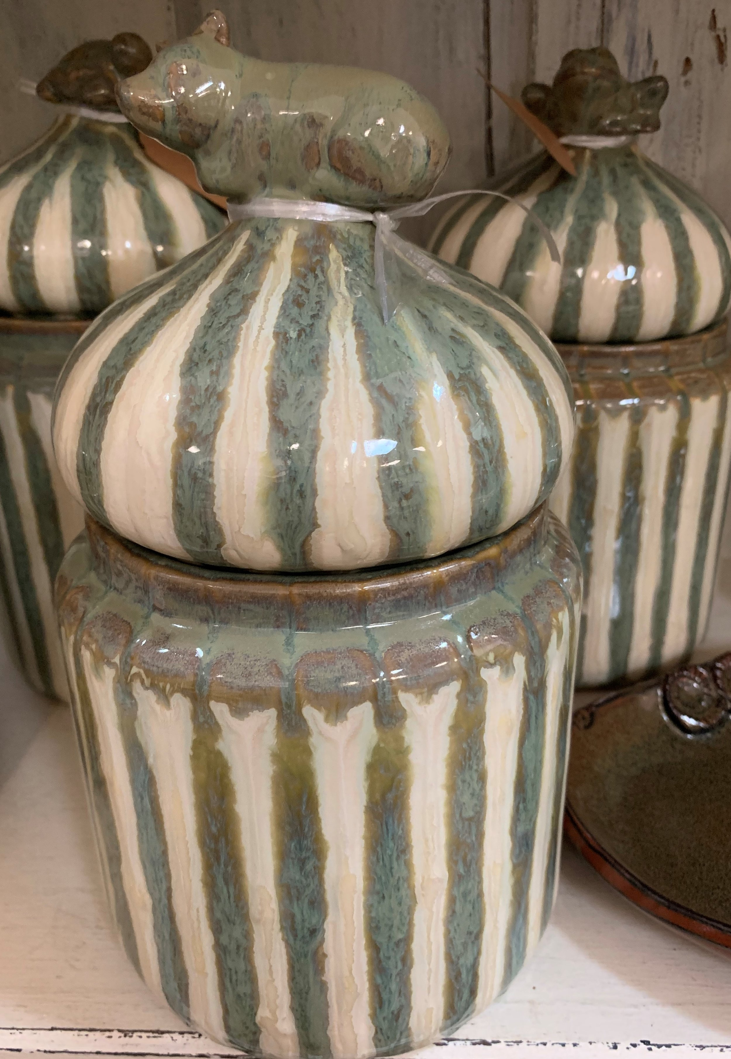 Good Earth Pottery Canisters