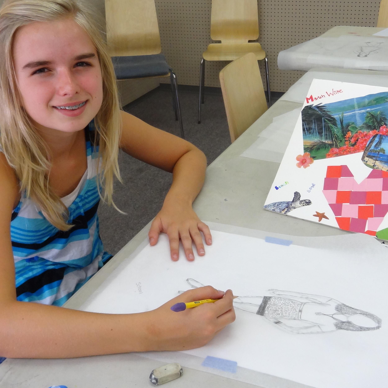Fashion Design student at Camarillo Art Center