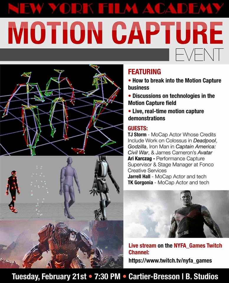 Panel at the  NYFA  where we discussed Performance & Motion Capture